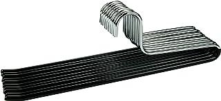 comprar comparacion Cortec - 10 perchas de metal para pantalones con revestimiento de goma antideslizante en color negro