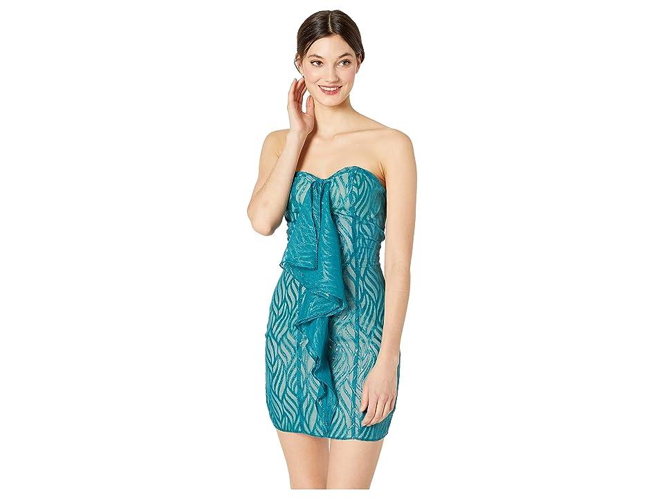 Bebe Strapless Fishtail Dress (Multi) Women