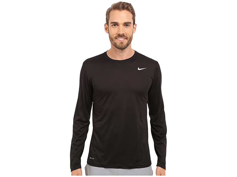 Nike Legend 2.0 Long Sleeve Tee (Black/Black/Matte Silver) Men