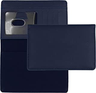 Blue Textured Leather Checkbook Cover for Top Stub Personal Checks