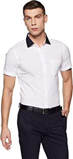 Excalibur by Unlimited Men's Solid Slim Fit Formal Shirt
