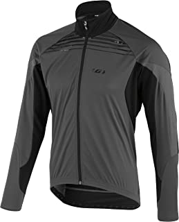 Louis Garneau Men's Glaze RTR Bike Jacket, Black/Gray, Medium