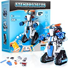 Stem Projects for Kids Ages 8-12 Remote & APP Controlled Robots for Kids -358 Pieces Building Toys Science Experiment Kit ...