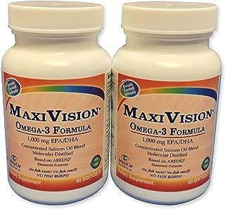 MedOp MaxiVision® Omega-3 Formula 60 softgels, 2 Bottles