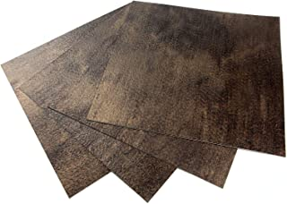 ROSEROSA Peel and Stick Engineered PVC Tiles Metal Pattern Durable Vinyl Flooring (ECK-403 : Square 4 Tiles)
