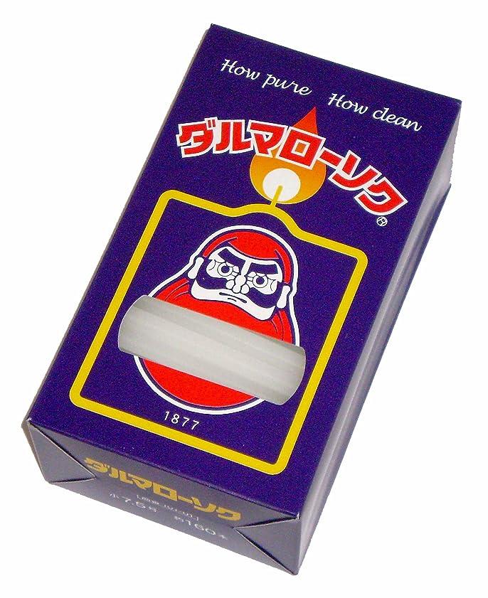 単に洞察力狂う東海製蝋のろうそく ダルマ 小7.5号/160本入450g