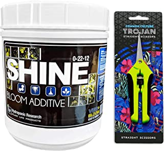 2.2 lb Shine by Veg + Bloom- A Hydroponic Powder That Enhances The Bloom Stage of Plant Growth. Add to Reservoir During to Maximize Crop Production | Common Culture Trimming Scissors Included
