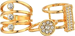 Three-Piece Ring Set with Crystal Stones