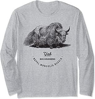 Yak Himalaya Tibet Vintage Animal Print Birthday Gift Outfit Long Sleeve T-Shirt