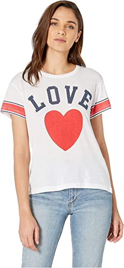 Love Vintage Jersey High-Low Tee
