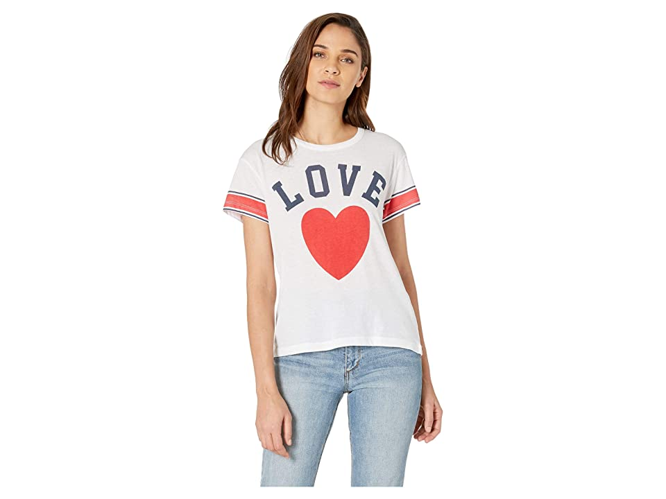 Chaser Love Vintage Jersey High-Low Tee (White) Women