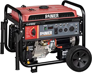 Rainier R12000DF Dual Fuel (Gas and Propane) Portable Generator with Electric Start - 12000 Peak Watts & 9500 Rated Watts - CARB Compliant - Transfer Switch Ready