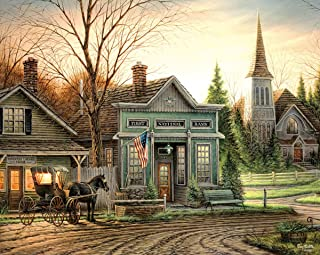 White Mountain Jigsaw Puzzle Office Hours Artist Terry Redlin 550 Pieces