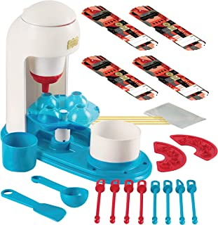 FAO SCHWARZ Kids No-Bake Vanilla Cake Pop Maker Complete DIY Kit, Includes Batter Piping Machine, Mold, 8 Sticks, Spoon, Spatula, Sprinkles Stencils, Mini Mixing Bowls, and Cake Mix & Sprinkles