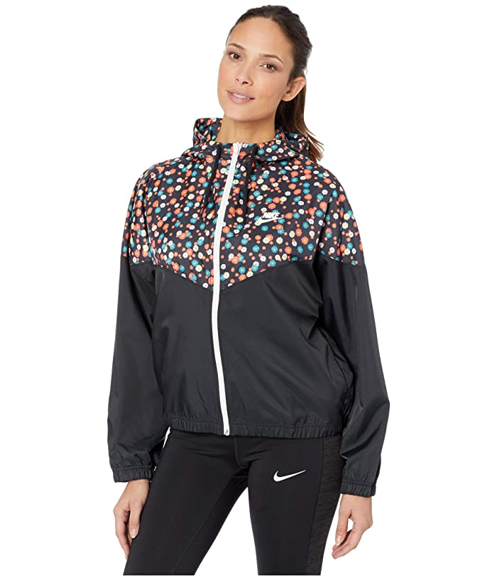 80s Windbreakers, Jackets, Coats Nike NSW Heritage Jacket Woven Floral BlackWhite Womens Clothing $56.25 AT vintagedancer.com