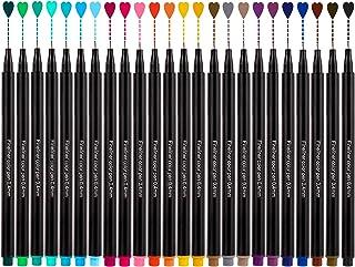 Feutre Pointe Fine, Stylos Fineliner Pens 24 Couleurs de 0,4mm Coloriage Sketch Écriture Dessin Stylos à Bille Pour Croqui...