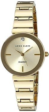 Anne Klein - Reloj de pulsera con detalles de diamantes para mujer