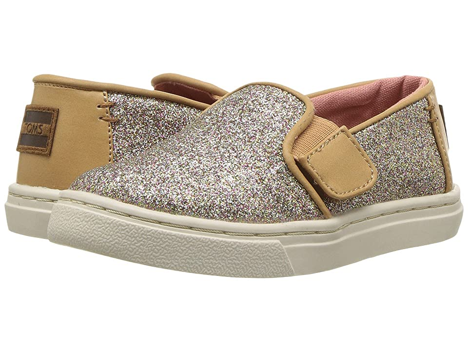 TOMS Kids Luca (Infant/Toddler/Little Kid) (Gold Iridescent Glimmer) Girl