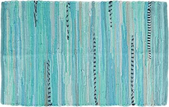 DII Contemporary Reversible Floor Rug for Bathroom, Living Room, Kitchen, or Laundry Room, 2x3' - Denim