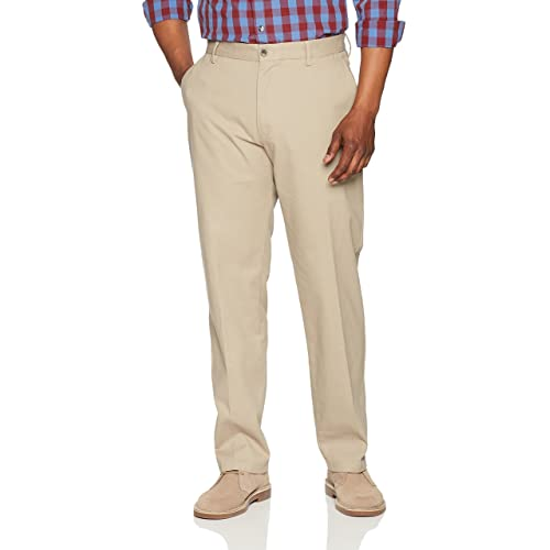520dbd37 Amazon Essentials Men's Classic-Fit Wrinkle-Resistant Flat-Front Chino Pant
