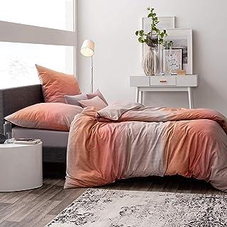 52c98d94060c5a Estella Mako Interlock Jersey Bettwäsche 2 teilig Bettbezug 135 x 200 cm  Kopfkissenbezug 80 x 80