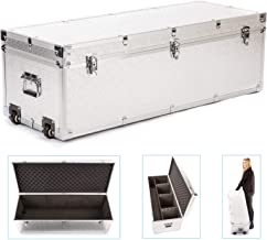 Aluminium Flight Case Large Carry Protective Portable Wheeled Foam Padded Bag Fly Case 100cm 35cm for Travel  Storage  Camera Photography Videography Lighting Studio  Sound Recording Music Equipment