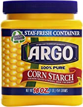 Argo 100% Pure Corn Starch, 16 Oz (2 Pack (16 Ounce))