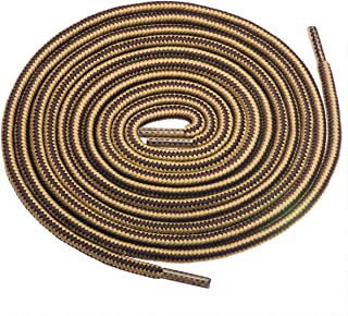 """Birch 1/5"""" Thick Tough and Heavy Duty Round Boot Shoelaces for Boots and Hiking Shoes."""