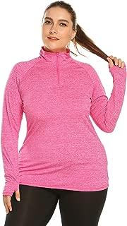 Zeagoo Women Plus Size Workout Jacket Running Sports Hoodies Yoga Jackets Coat Activewear with Thumb Holes(16W-24W)