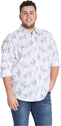 Big & Tall Aden Floral Linen Shirt