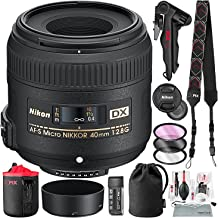Nikon AF-S DX Micro-NIKKOR 40mm f/2.8G Close-up Lens with Lens Pouch, Filter Kit, Mini Tripod, and Deluxe Bundle