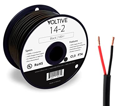 Voltive 8/8 Speaker Wire - 8 AWG/Gauge 8 Conductor - UL Listed in Wall  (CL8/CL8) and Outdoor/In Ground (Direct Burial) Rated - Oxygen-Free Copper