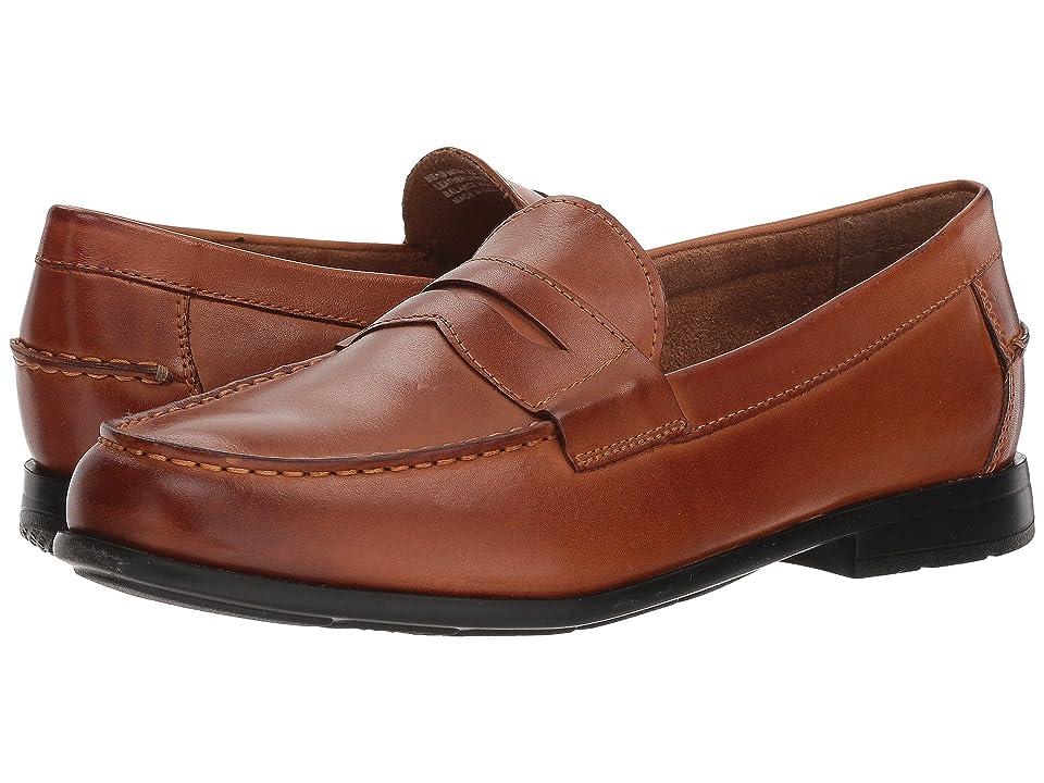 Nunn Bush Drexel Moc Toe Penny Loafer with KORE Walking Comfort Technology (Cognac) Men