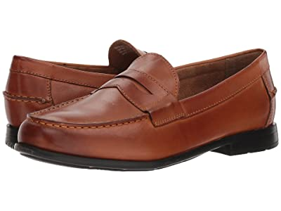 Nunn Bush Drexel Moc Toe Penny Loafer with KORE Walking Comfort Technology (Cognac) Men