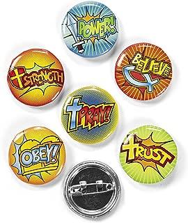 Fun Express Fantastic Faith Mini Buttons Novelty (4 Dozen)