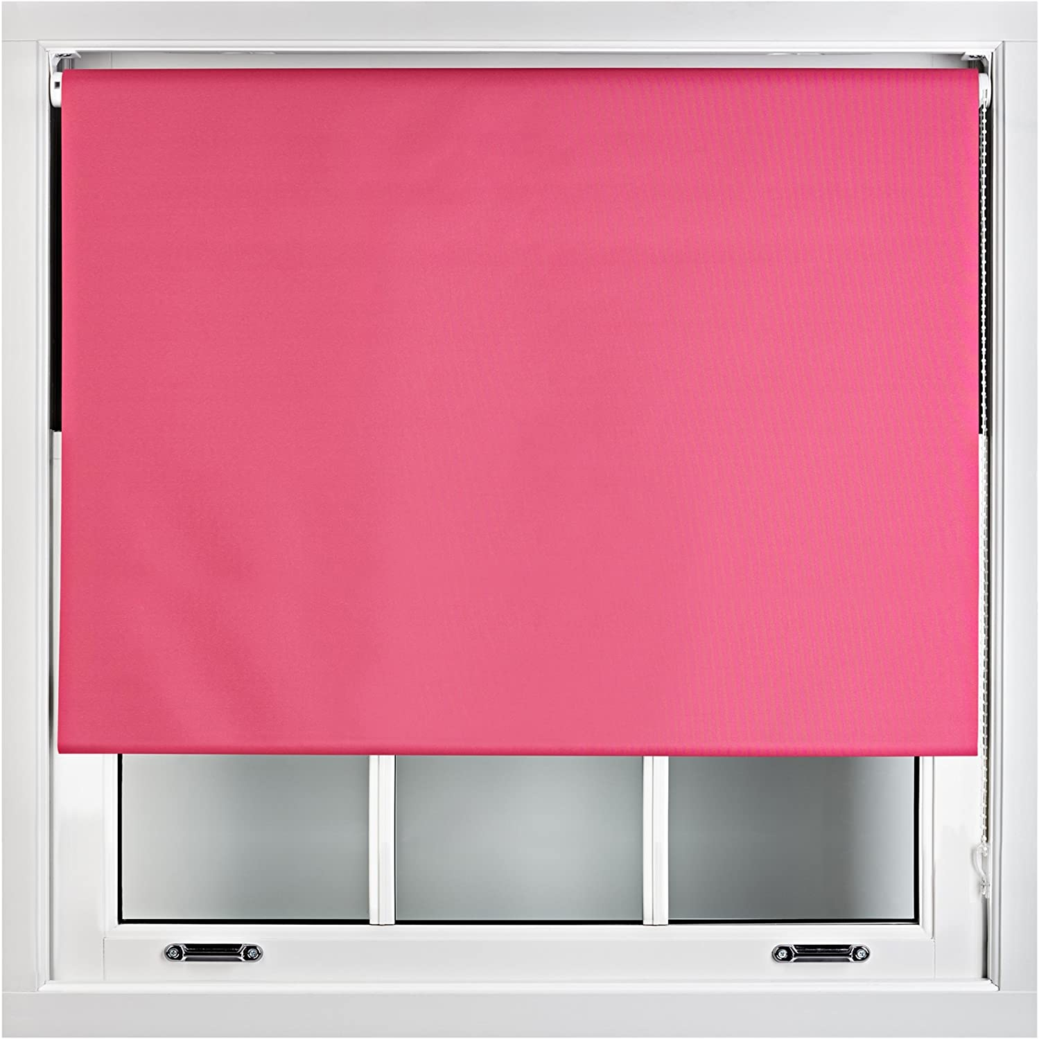 60cm x 165cm FURNISHED 100/% Blackout Roller Blinds Made to Measure Metal Fittings Included Navy