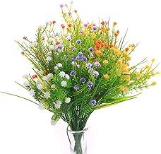 JAKY Global Artificial Flowers Gypsophila Babysbreath Fake Water Plants Bouquet 6 Bundle Fake Plants Wedding Bridle Bouque...