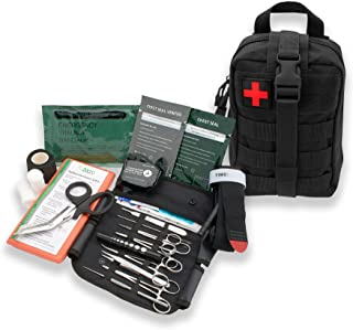 AsaTechmed Premium Rip Away IFAK MOLLE Pouch with Stop The Bleed Kit First Aid Combat Survival Kit Outdoors Hiking Camping...