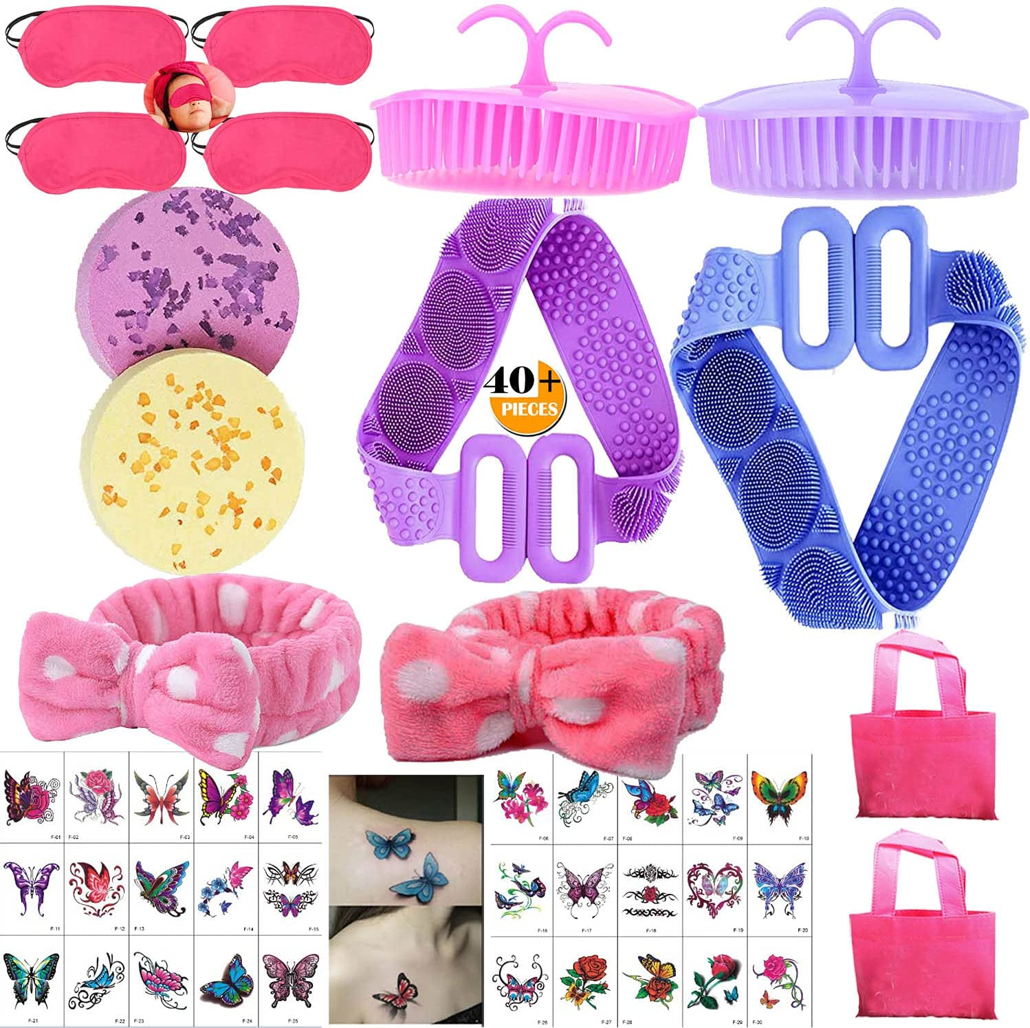 TABGIME 40+PCS Girls Online limited product Bath Great interest Bathing Sets for Home Relaxation Spa