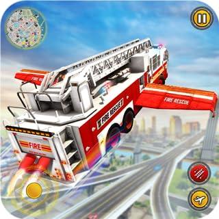 simulador de camión de bombero volador 2019: escuela de conducción de camión de bomberos para misiones de rescate de emergencia 911 y simulador de bombero ruso