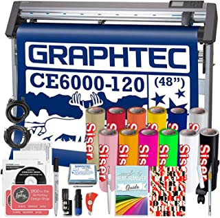 Graphtec Plus CE6000-120 48 Inch Professional Vinyl Cutter with Bonus Software, Heat Transfer Vinyl, and 2 Year Warranty
