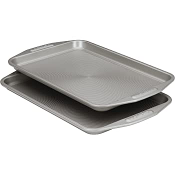 Circulon Total Bakeware Set Nonstick Cookie Baking Sheets, 2 Piece, Gray