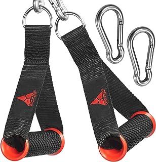 دستگیره های کابل Allbingo Pro سازگار با دستگاه های کابل و Bowflex ، تمرین سنگین ضمیمه دسته های دستی با 2 کارابین برای باندهای مقاومت مجموع ورزشگاه خانگی