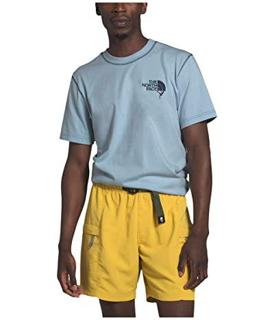 The North Face Dome Climb Short Sleeve Tee (Faded Blue/Blue Wing Teal) Men