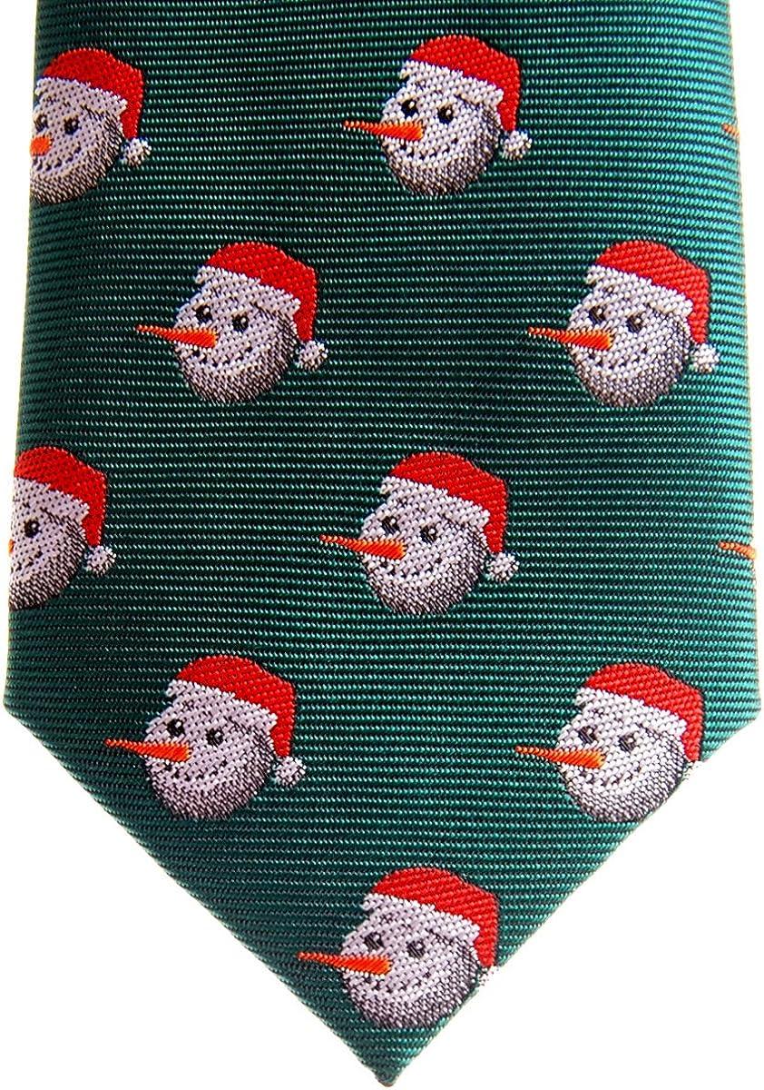 Retreez Christmas Happy Cravate pr/é-nou/ée pour gar/çon Motif bonhomme de neige