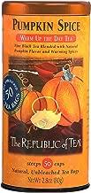 The Republic of Tea Pumpkin Spice Black Tea, 50 Tea Bags, Autumnal Spice Blend