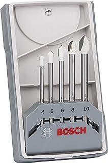 Bosch Professional 2608587169 Kakelborr Set, Silver, 4-10 mm, 5 Delar