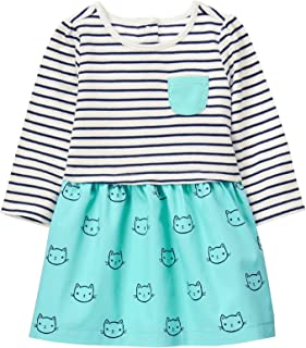 Gymboree Baby Girls Striped Cat Print Dress