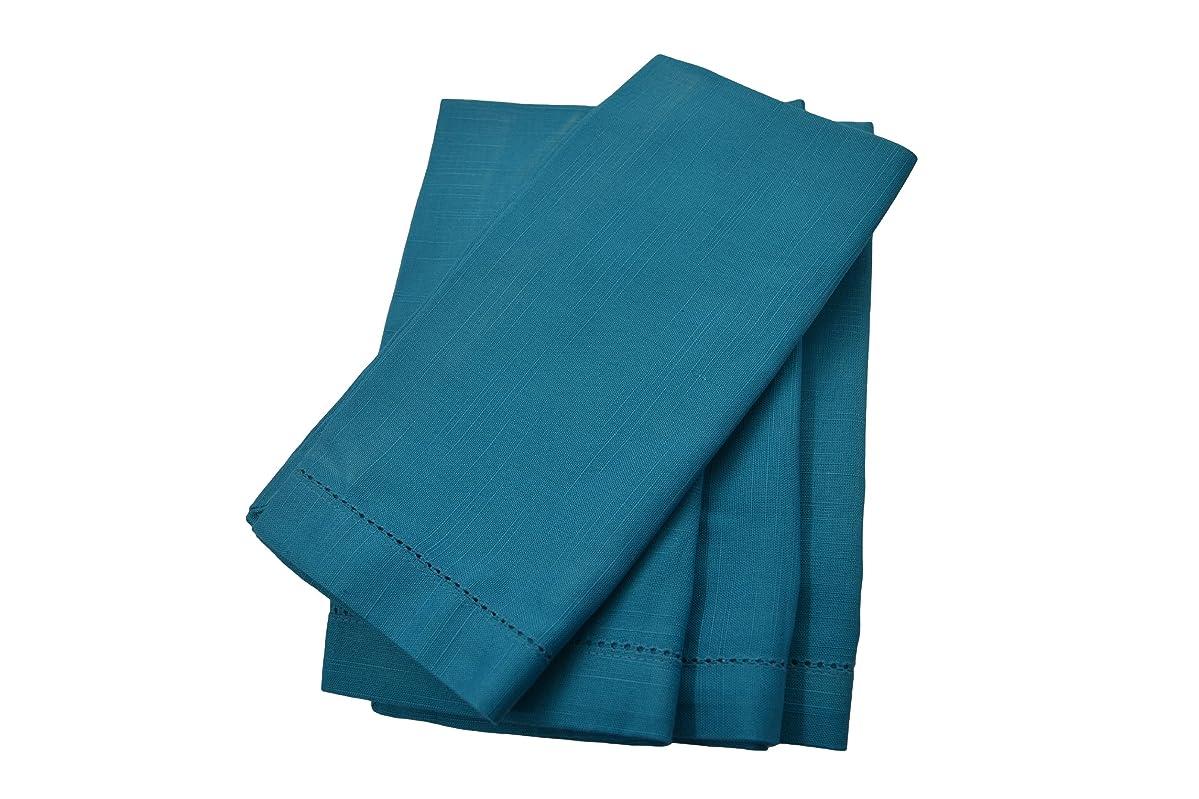 Turquoise 20x20 Hemstitch Dinner Napkins 1 Dozen
