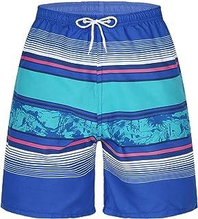 TiaoBug Bañadores de Natación para Hombre Pantalones Cortos Shorts de Baño Playa Surf Corriendo Pantalones Cortos de Natac...
